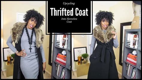 Upcycle A Thrifted Coat Into A Sleeveless Coat  Youtube