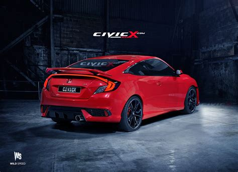 2016 Civic Si Coupe Accurately Rendered. But Is There A