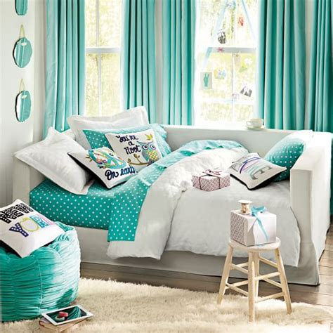 pottery barn teen daybed inspiration pillows pbteen