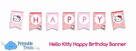 kitty happy birthday banner printable treatscom
