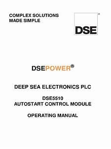 Dse5510 Operators Manual