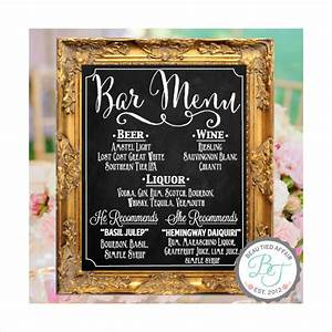 bar menu templates 35 free psd eps documents download With chalkboard wedding sign template