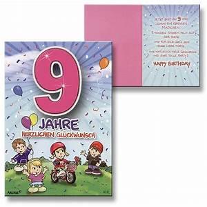 Geburtstag Berechnen : archie geburtstagskarte zum 9 geburtstag m dchen rot gl ckwunschkarte kinder ebay ~ Themetempest.com Abrechnung