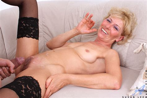 Sex Starved Blonde Milf Gags On The Stiff Cock Of A Young
