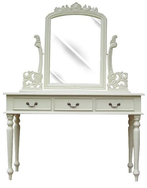 chambre et noir baroque coiffeuse style anglais acajou blanc bonnelles meuble de