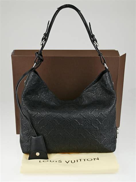 louis vuitton black monogram antheia leather hobo pm bag yoogis closet