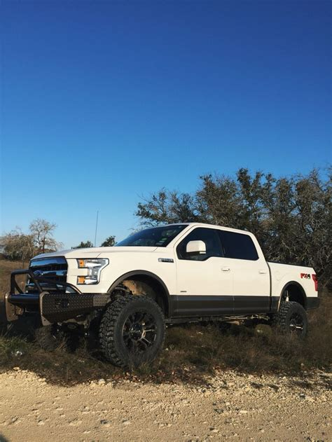 lifted   white  caribou ford texas trucks