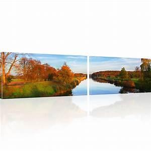 Dreiteilige Bilder Auf Leinwand : bilder fluss wandbilder landschaft bilder auf leinwand ebay ~ Orissabook.com Haus und Dekorationen