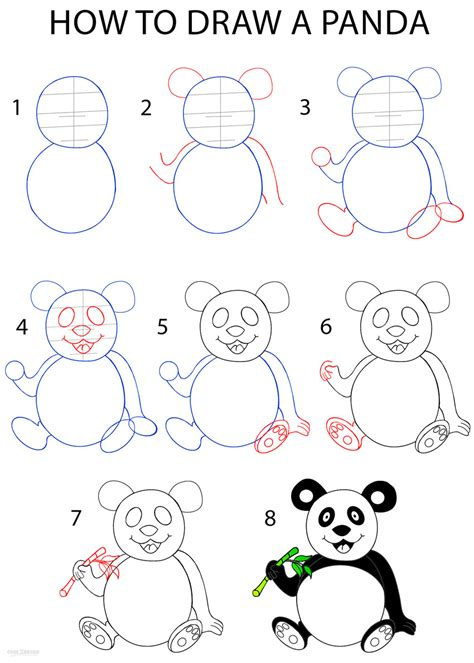 How To Draw A Panda (step By Step Pictures) Cool2bkids