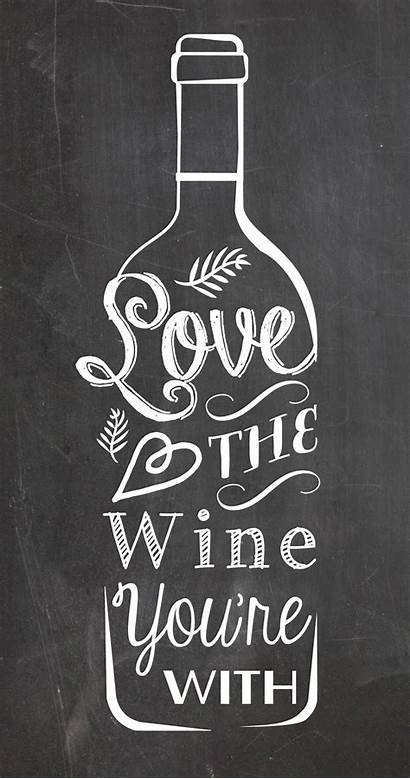 Chalkboard Kitchen Poster Wine Re Typography Edit