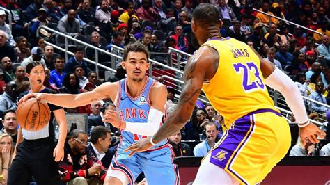 night trae young steps   lebron lakers