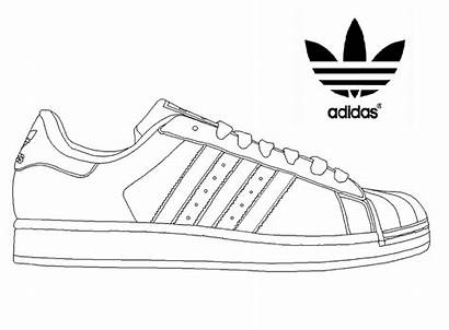 Adidas Coloring Superstar Shoes Sneakers Pages Sketch