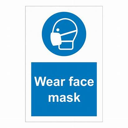 Mask Wear Face Sign Shield Signs Ppe