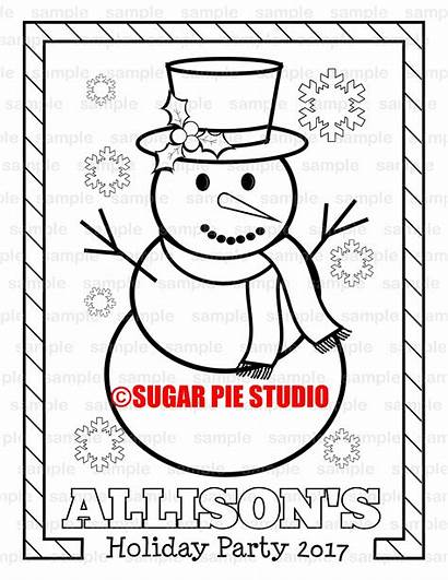 Christmas Personalized Printable Holiday Coloring Pdf Pie