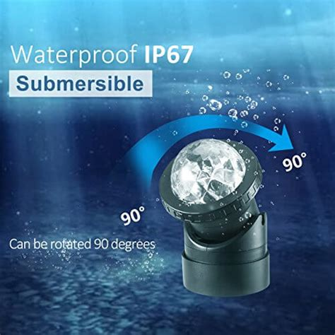 creative design multicolored submersible led lights
