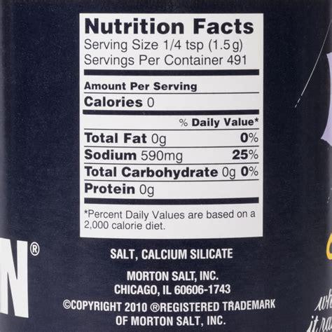 Morton 26 oz. Plain Table Salt Rounds