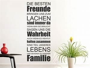 Sprüche Zur Hauseinweihung : wandtattoo die besten freunde bringen wandtattoo de ~ Lizthompson.info Haus und Dekorationen