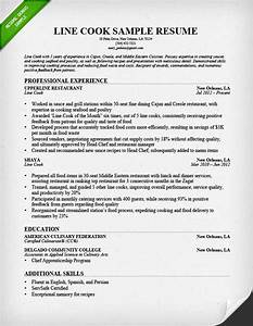 Prep cook and line cook resume samples resume genius for Line cook resume template