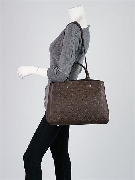 louis vuitton terre monogram empreinte montaigne gm bag yoogis closet
