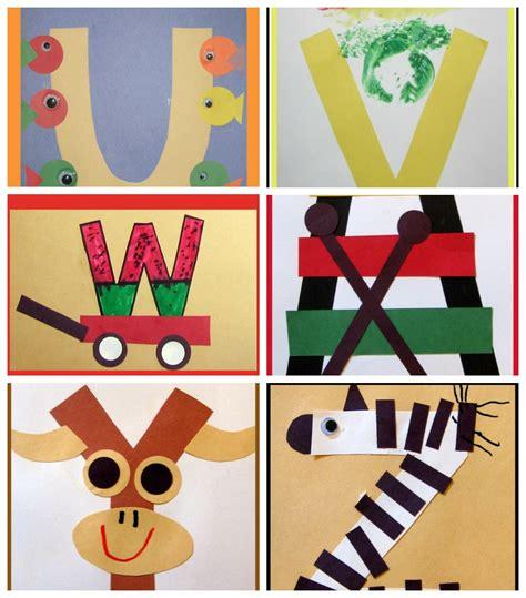 letter of the week crafts 833 | letter of the week art preschool uvwxyz