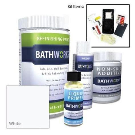 bathtub resurfacing kit bathworks 22 oz diy bathtub refinish kit with slipguard