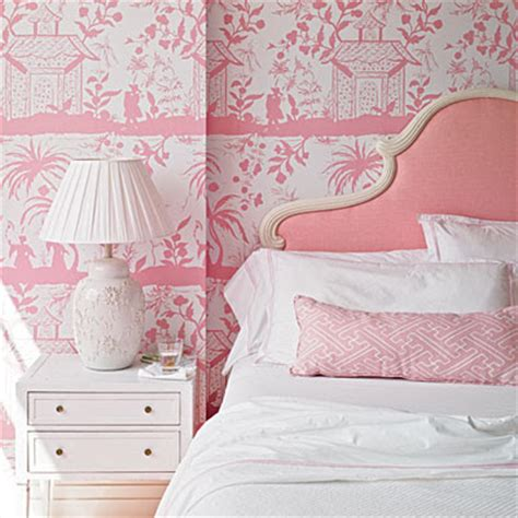 pink and white wallpaper for a bedroom a blind pash interiors pretty in pink 21139