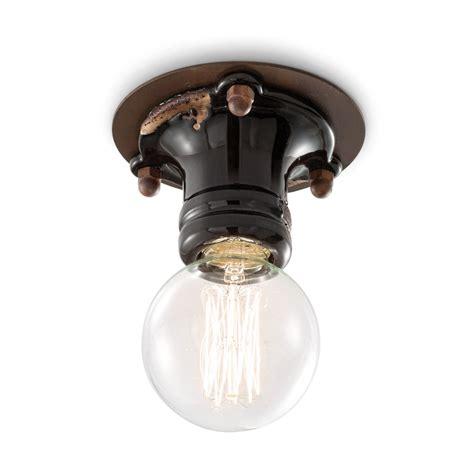 faretto da soffitto faretto da soffitto design retr 242 in ceramica e metallo