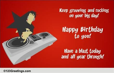 rocking birthday   songs ecards greeting cards