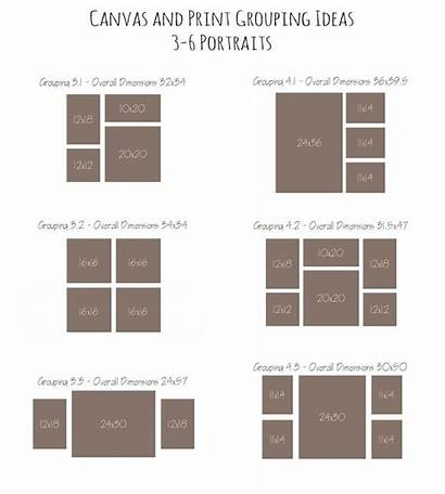 Collage Canvas Wall Layout Groupings Display Grouping