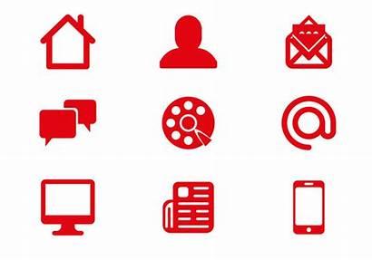 Communication Icons Vector Icon Phone Mail Email