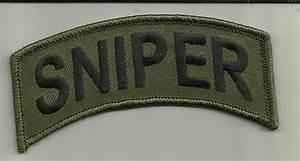 SNIPER PATCH OG MILITARY UNIFORM GUN SCOPE USA SOLDIER ...