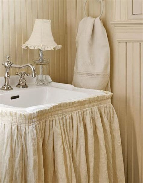 Burlap Utility Sink Skirt by The Utility Bathroom For The Home