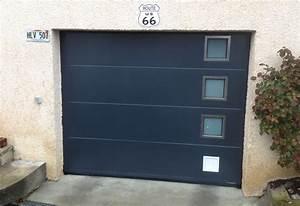 Porte de garage sectionnelle avec portes fenetres pvc for Porte de garage sectionnelle avec porte d entrée renovation pvc