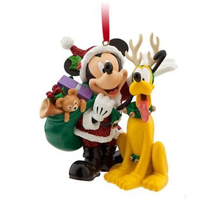 disney christmas ornament santa mickey mouse  pluto