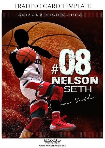 nelson seth basketball sports trading card photoshop template
