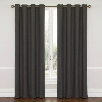 charcoal grey curtains buy charcoal curtains from bed bath beyond