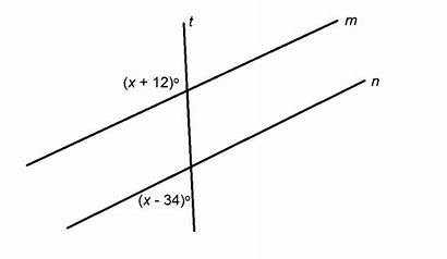 Parallel Lines Perpendicular Properties Math Question Figure