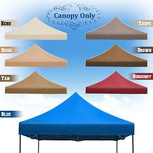 replacement canopy   ez pop  tent instant gazebo polyester cover ebay