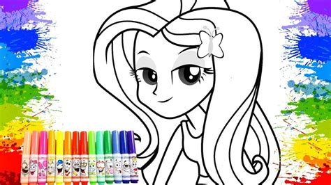 Crayola Coloring Book Page Equestrian Girls Fluttershy