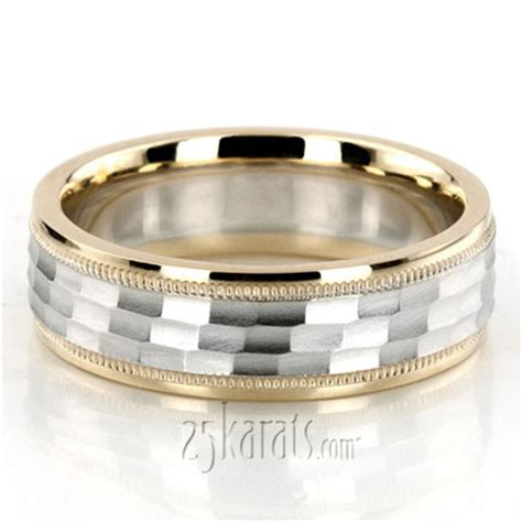 diamond carved designer wedding bands  men women