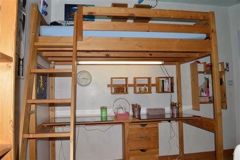 mezzanine 1 place lit mezzanine en bois naturel christine