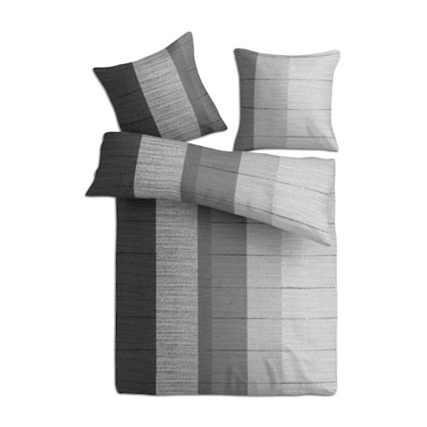 bettwäsche schwarz grau microfaser bettw 228 sche grau schwarz 135x200 cm