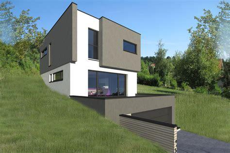 maison moderne sur terrain en pente maison bois sur terrain en pente