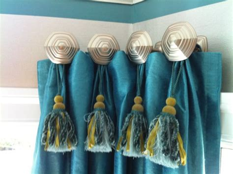 Tie Backs Instead Of Curtain Rod For Bay Window. For Bay