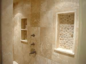 best interior design for home travertine river rock shower