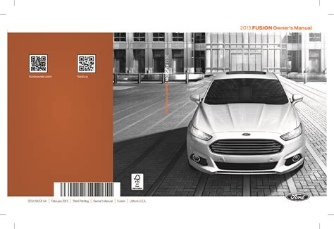 ford fusion owners manual  give   damn manual