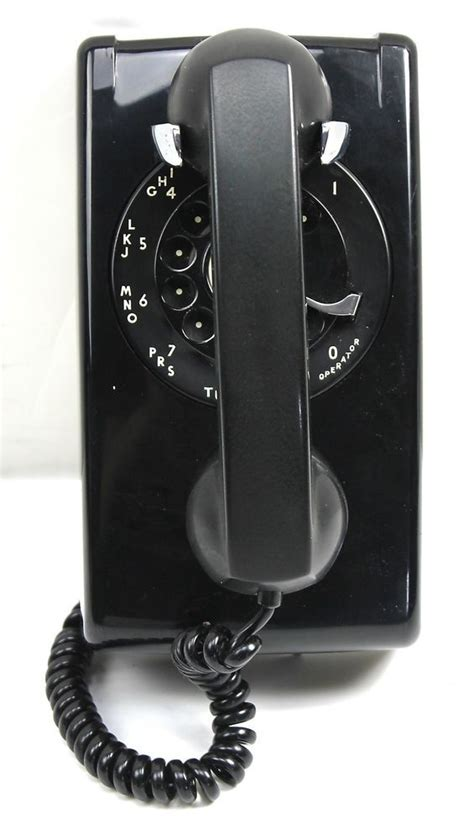 western electric vintage bell system black rotary dial