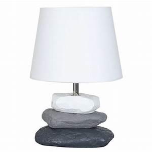Lampe De Chevet Dorée : lampe chevet blanche pied galets b ton en vente sur lampe ~ Dailycaller-alerts.com Idées de Décoration