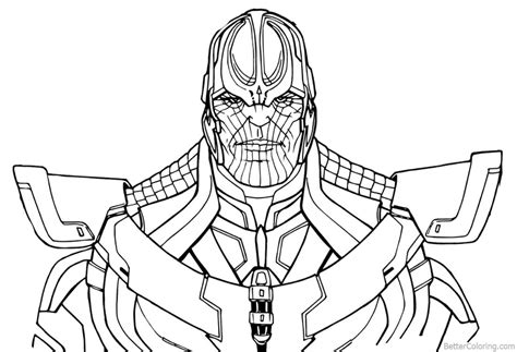Beautiful Thanos From Avengers Infinity War Coloring Pages By Andrew
