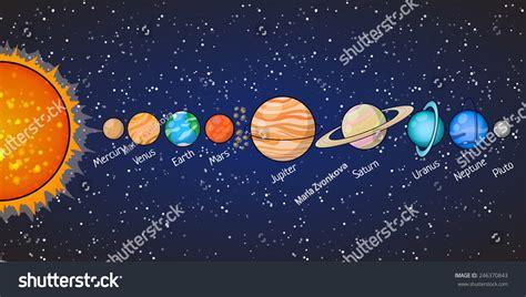 Set Of Solar System Planets: Mercury, Venus, Earth, Mars ...